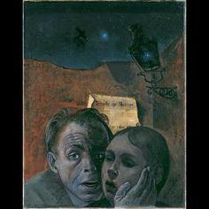 Felix Nussbaum, Fear (Self-Portrait with his Niece Marianne), 1941,  51.00 x 39.00 cm,  oil on canvas self portraits, amaz art, fear selfportrait, holocaust art, paint die, felix nussbaum, niec mariann, 1941, nussbaum fear