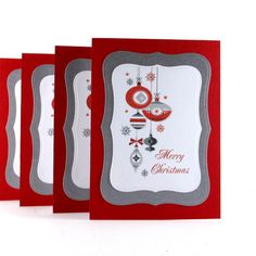 Christmas card set holiday card set by BellaCardCreations on Etsy