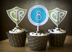 PRINTABLE/CUSTOMIZABLE  CTR Baptism Cupcake Toppers by ericadixon, $10.00