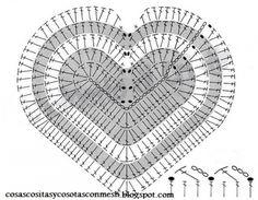 Patrón corazón crochet