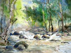 watercolor possibl, watercolor landscap, painter watercolor, paper, art