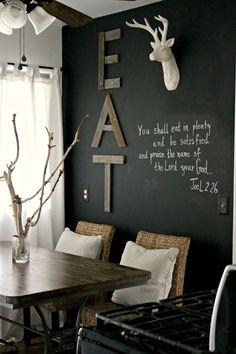dining rooms, chalkboards, dine room, black walls, chalkboard walls
