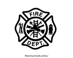 Vinyl Car Window Decal  Fire Department Cross by WickedGoodDecor, $4.00