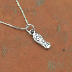 Sterling Silver 26.2 Marathon Shoe Necklace   Sterling Silver Running Jewelry
