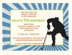 Hockey themed birthday party