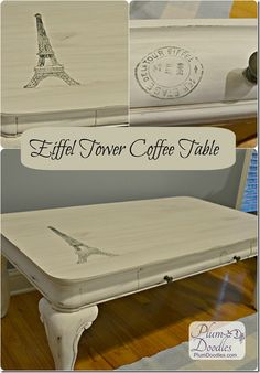 Eiffel Tower Coffee Table | PlumDoodles.com