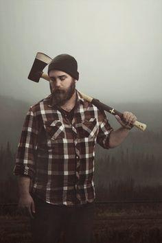 big guy with a big beard full thick beards bearded man men mens' style lumberjack mountain man #paulbunyan #beardsforever