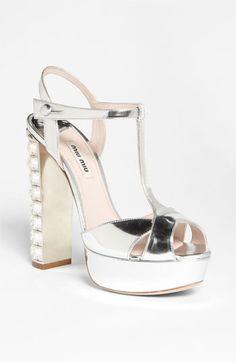 These Miu Miu Crystal Heels are on my wishlist for New Year's Eve! #GiftofTadashiShoji