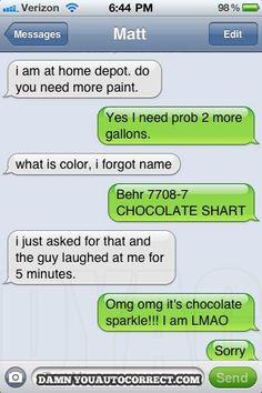 chocolate shart