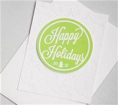 Create multiples of this simple holiday card to go along with neighbor holiday treats!
