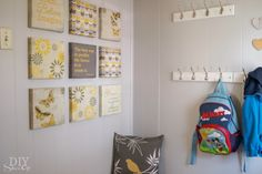 This entryway makeover is perfect to keep the kids organized as they go back to school. diyshowoff.com