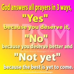 God's way to answer our prayers