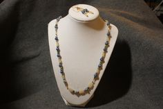 Calcite,moss agate and sodalite. We were pleased with this one.