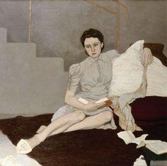 Girl in Grey. Louis le Brocquy. 1939.