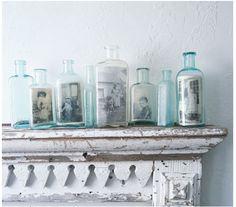 porta-retratos em vidros reciclados