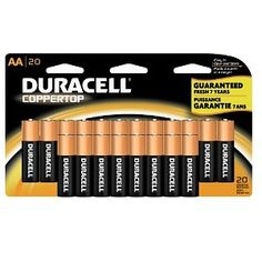 #9: Duracell Coppertop AA Batteries, 20-Count.