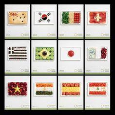 International food flags - World Thinking Day.