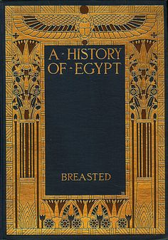 Breasted...A History of Egypt   c.1929 / Book Cover