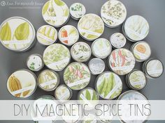 DIY Magnetic Spice Tins