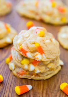Halloween cookies with candy corn :0