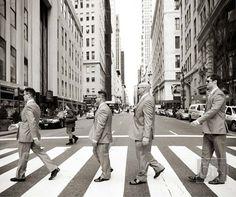 Groom & groomsmen shot in New York City
