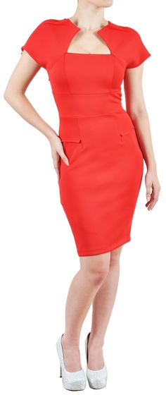 Clothing :: Dresses :: View All :: 'Hollywood' Red Galaxy Pencil Wiggle Dress - Celeb Boutique - Celebrity Style At High Street Prices| Bodycon Dresses | Bandage Dresses | Party Dresses