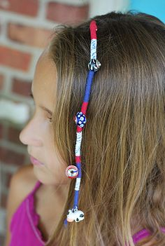 DIY Patriotic Hair Wrap | The Twinery