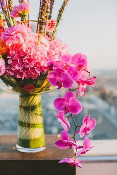 orchid floral arrangement // photo by Jackie Wonders, flowers by Adorations // http://ruffledblog.com/modern-san-diego-wedding