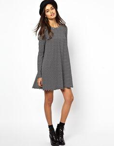 Jersey Swing Dress in Stripe