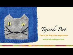 Bolsillo de gatito tejido en dos agujas o palitos