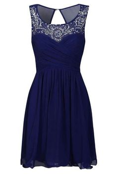 Blue Dress with Silver Accent