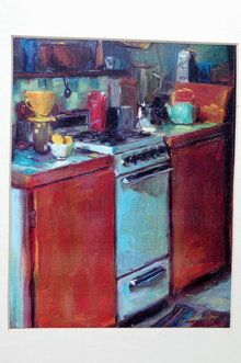 Messy Kitchen by Pam Ingalls-Cox