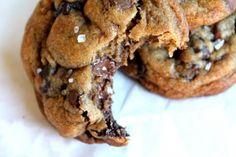 nutella stuffed sea salt chocolate chip cookies