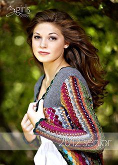 Multi colors crocheted vest. No pattern.