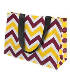 Gameday Maroon and Gold Large Eco Tote!