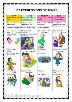 Les expressions de temps fiches - iSLCollective.com – Fiches pédagogiques gratuites