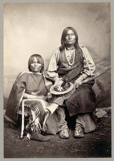 Trotting Wolf and wife - Kiowa - no date