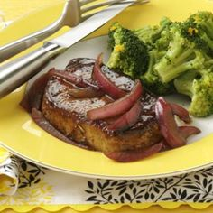 Balsamic-Glazed Pork Chops Recipe from Taste of Home