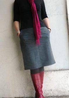 Pants into skirt