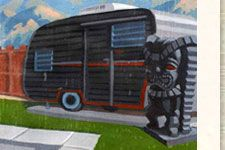 Hicksville trailer palace! Looks like so much fun!