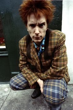 Johnny (Lyndon) Rotten, mad for plaid, or maybe just a bit mad