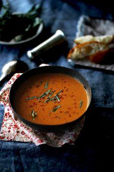 Tomato Soup with Fresh Tarragon | The Flourishing Foodie