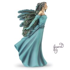 """Poised in the wind, portraitist Jessica Galbreth's Vision Angel assumes three dimensions as a limited-edition, freestanding collectible! Resin. 6"""" high (approx.)."""