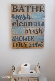 Bathroom Pallet Sign