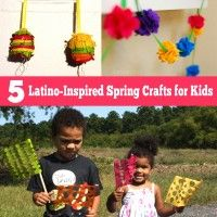 Five cute and colorful, Latino-inspired spring crafts for kids.