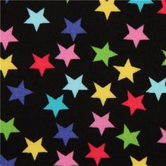 black star fabric by Timeless Treasures from the USA