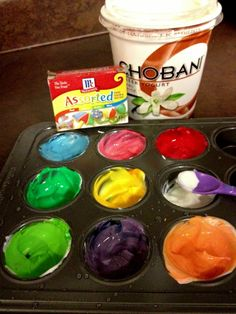 Homemade Edible Yogurt Finger Painting | Peach State Moms Blog