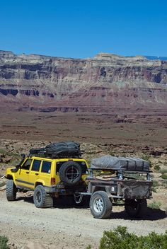 Jeep and trailer