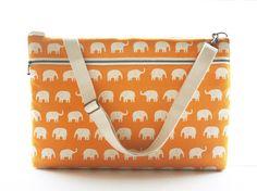 Elephant Laptop Case :) http://www.etsy.com/listing/61589079/laptop-bag-for-15-inch-with-shoulder