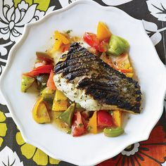 Grilled Striped Bass with Indian-Spiced Tomato Salad - #foodandwine